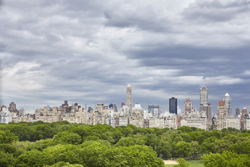 Stormy clouds over Central Park in New York City, USA