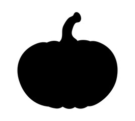 pumpkin silhouette vector  design isolated on white background