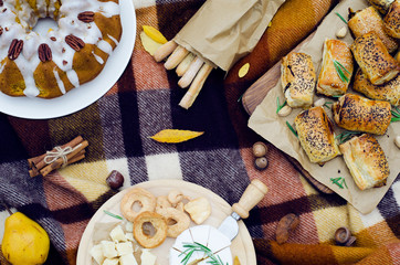 Autumn Picnic, Lunch Outdoors, Food Concept