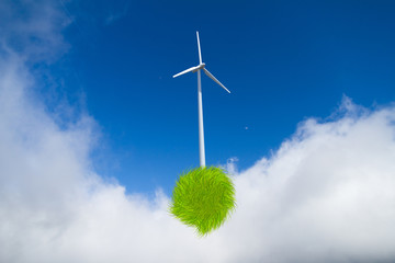 Windmills Producing Electric Power by Saving Nature