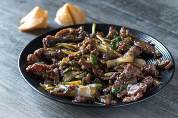 mongolian beef asian dish