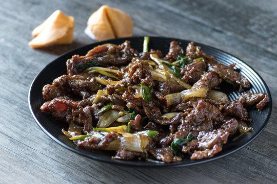 mongolian beef asian dish