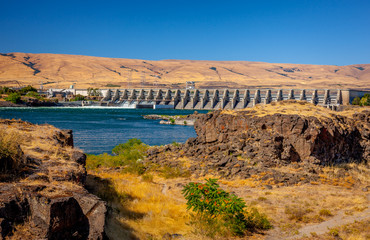 Dam at The Dalles Oregon