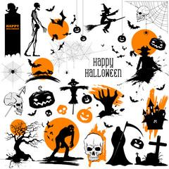 Happy Halloween holiday Design Element
