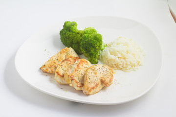 Chicken Fillet with rice and Broccoli