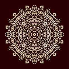 golden mandala background desgin
