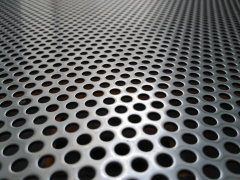 Perforated steel sheet, perforated plate of stainless steel sheet.
