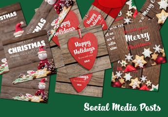 Set of Christmas Social Post Layouts 3