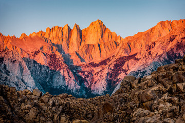 Printed kitchen splashbacks Mountains Mt. Whitney Sunrise