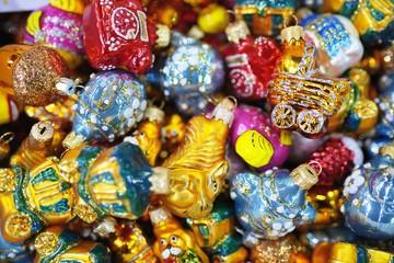 New Year toys on Christmas Fair