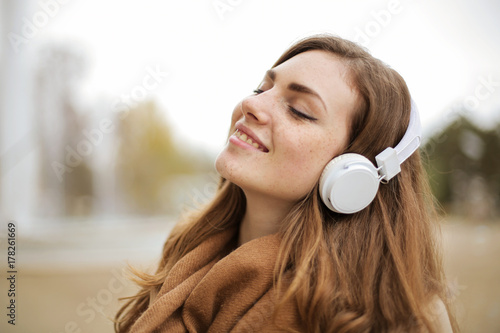 Listening to relaxing music