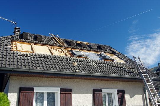 isolation thermique d'une toiture