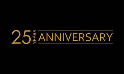 25 years anniversary icon. 25th birthday emblem. Anniversary design element. Vector illustration.