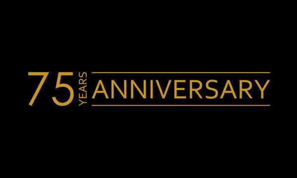 75 years anniversary icon. 75th birthday emblem. Anniversary design element. Vector illustration.