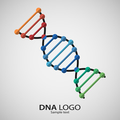 Logo dna structure. Vector pattern of the molecule. Icon for the company