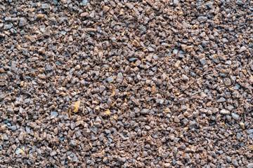 motley texture of shredded coffee