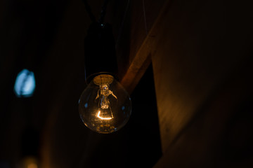 Light bulb on a dark background