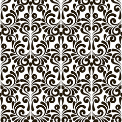 Seamless abstract pattern. Black and white vector background. Ornament for wrapping, wallpaper, tiles