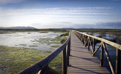 Footbridge in Fuente de piedra, Malaga