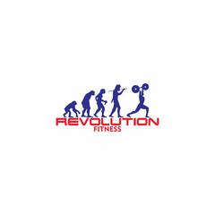 Evolution fitness logo vector