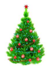 3d neon green Christmas tree