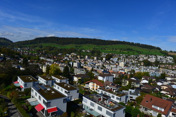 Luftansicht Kriens Luzern-Land