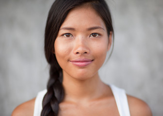 Portrait of a beautiful Asian woman