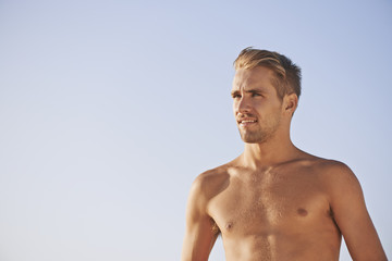 Portrait of Gorgeous Guy on the beach