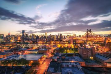New York City Skyline - City Lights at Dusk