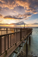 Sunset at Changi board walk