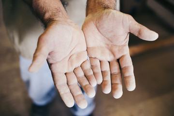Rough Hands of a Woodworker