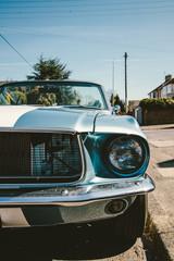 Vintage American muscle car.