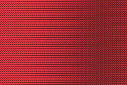 Christmas red knitted pattern.