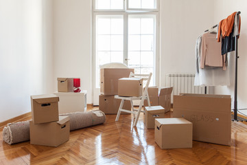 Boxes in a New House