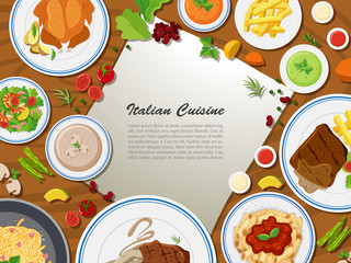 Poster design with italian cuisine