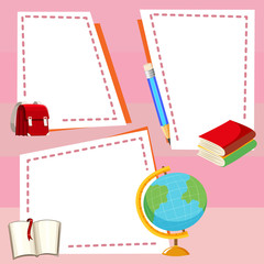 Border template with different stationeries