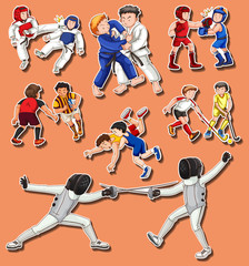 People doing different martial arts