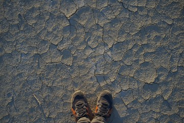 Looking down at the the Salt Flats.