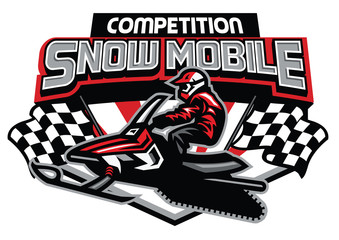 snowmobile competition badge design
