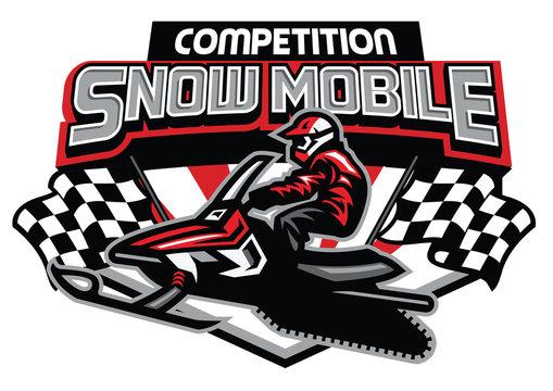 snowmobile competition badge design