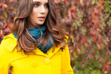Beautiful Autumn Portrait of a Woman