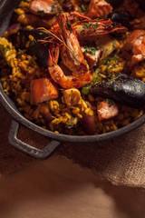 Mexican Paella in a Pan