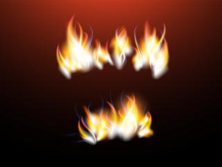 Vector realistic flames.