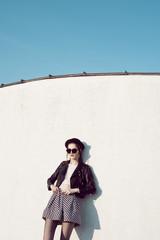 Hipster rock girl.