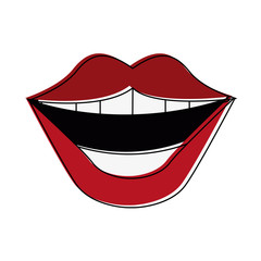 smile mouth laugh icon image vector illustration design