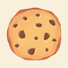 cookies with chocochips illustration vector