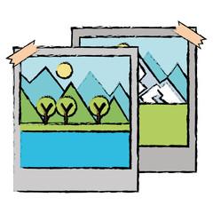 landscape snapshot isolated icon