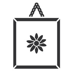 flower painting isolated icon