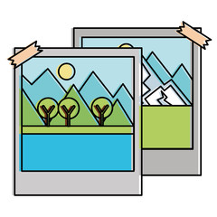 landscape snapshot isolated icon