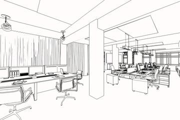 Büroarchitektur (Skizze)